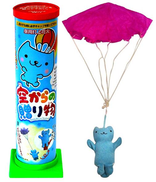 ◆高品質 ぬいぐるみが空からユラユラ落ちてきます 空からの贈り物 パラシュート花火 パペット 人形 サプライズ キッズ 子ども プレゼント 売れ筋ランキング