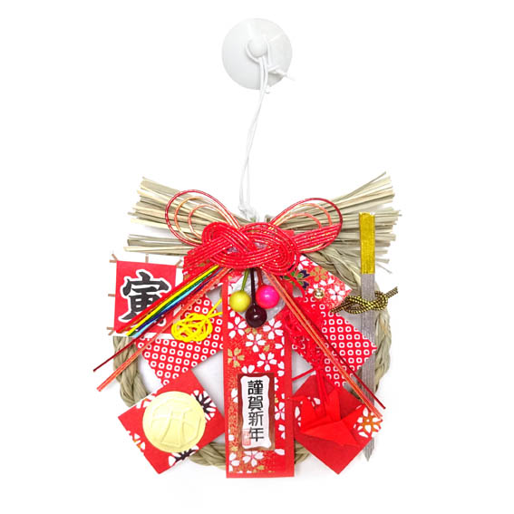 勝負運&健康運UP☆ Dr.コパ 2022年風水ミニしめ飾り☆赤☆【お正月飾り】【お正月リース】【開運・風水】