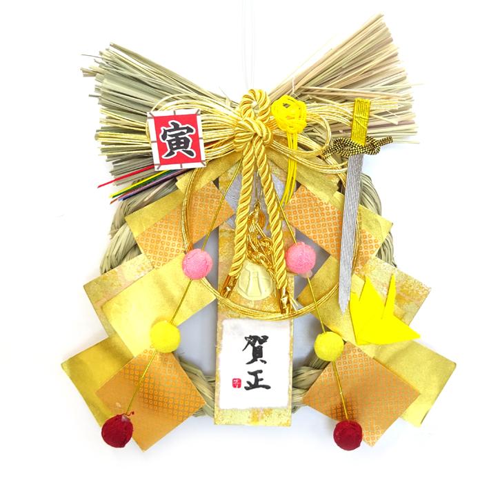 金運UP☆ お得クーポン発行中 Dr.コパ 2022年風水リースしめ飾り☆金☆ お正月飾り 物品 開運 お正月リース 風水
