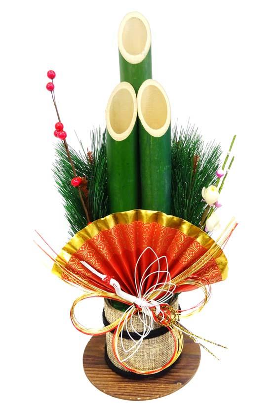 鶴の水引が上品な門松です \あす楽 門松 お正月飾り 卓出 中 本店 40センチ