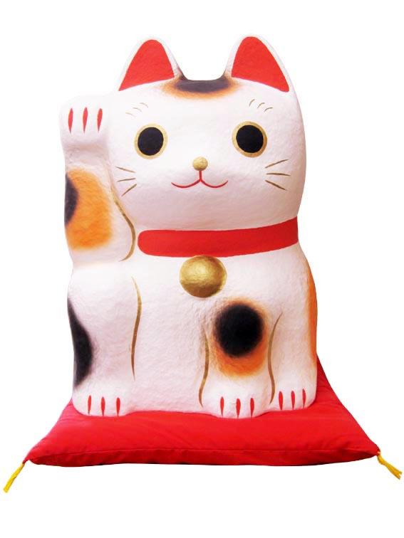 招き猫ディスプレイ特大【紙張子】【開運グッズ】【猫・ねこ・ネコ】【送料無料】