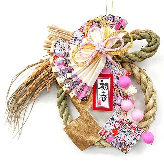 ピンク色の桃をイメージ☆ 正規店 供え 桃珠 とうじゅ 国産魚沼しめ飾り お正月玄関 お正月飾り お正月リース
