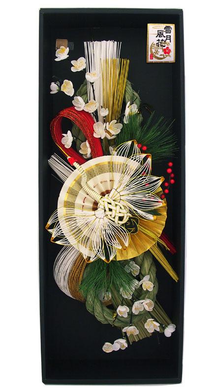 白鶴扇(はっかくせん)【雪月風花】【お正月飾り】【お正月リース】【国産・日本製】