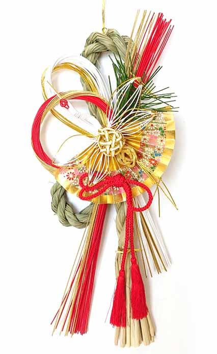金扇 限定モデル と 白鶴 のおめでたい組み合わせ☆ 信用 東雲 しののめ お正月リース 日本製 お正月飾り 雪月風花 国産