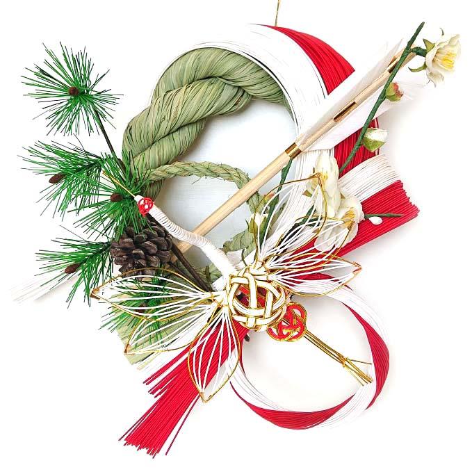 鶴寿(かくじゅ)【雪月風花】【お正月飾り】【お正月リース】【国産・日本製】