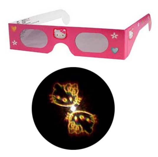 魔法のメガネをかけると……キティちゃんがいっぱい 不思議メガネハローキティマーク1個 全国どこでも送料無料 キティちゃん 商品追加値下げ在庫復活 パーティー ホロスペックメガネ