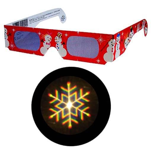 セール商品 激安通販専門店 魔法のメガネをかけると……スノーマークがいっぱい 不思議メガネスノーマーク 1個 イルミネーション ホロスペックメガネ