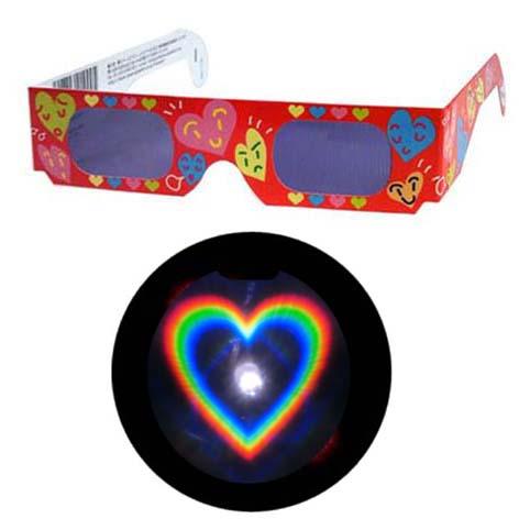 公式ストア 魔法のメガネをかけると……ハートマークいっぱいの愛あふれた世界 不思議メガネハートマーク 1個 キャンドルサービス デート 贈与 花火大会 結婚式 夜景 イルミネーション ホロスペックメガネ 披露宴