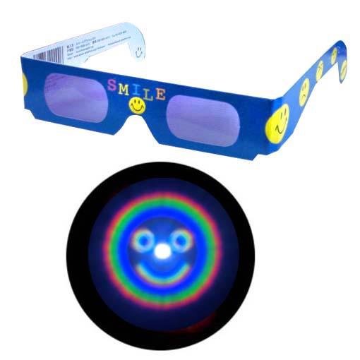 世界の人気ブランド ランキングTOP5 魔法のメガネをかけると……にっこりマークがいっぱい 不思議メガネにっこりマーク1個 ホロスペックメガネ キャンドルサービス
