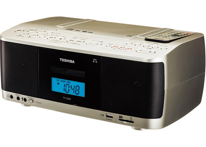 《セール期間クーポン配布!》【送料無料】東芝 CDラジオカセットレコーダー TY-CDX9 [ワイドFM ラジカセ カセット SD USB MP3録音 再生]※取り寄せ品