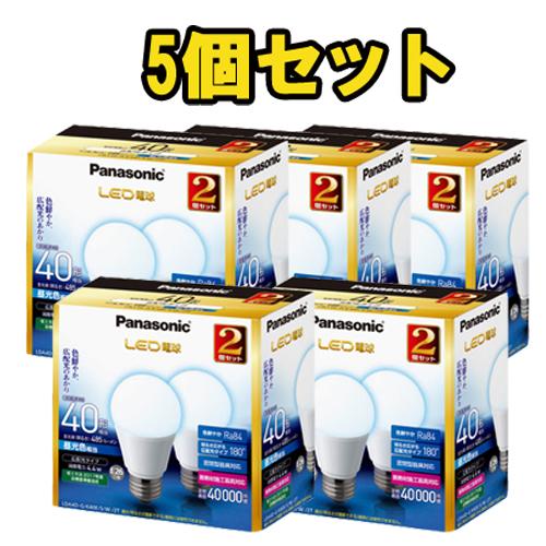 【送料無料】パナソニック LED電球 4.4W 2個入 昼光色相当 口金E26 広配光タイプ 5個セット LDA4DGK40ESW2T [Panasonic まとめ売り]
