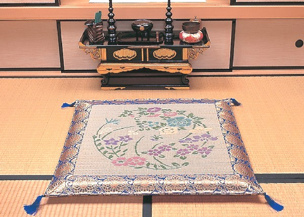 クッション・座布団 座布団 角型 い草「四季の花」上質な本袋織り!TKR155801 TKR090270 和家具雑貨