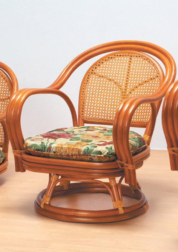Rattan Revolving Chair Middle Type Relaxation Color Color ♪ Strong KAGOME  Texture! RCH15DA Rattan Chair 360 Degree Rotary Legless Chair Rattan Round  Chair ...
