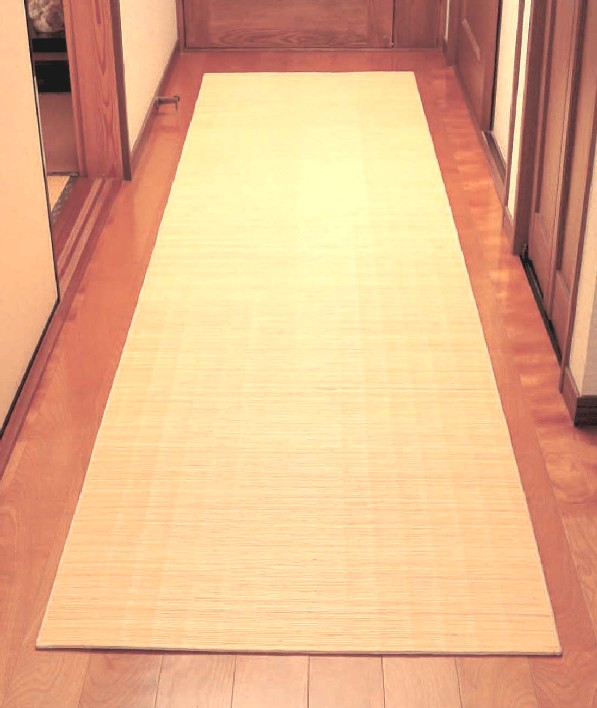 籐廊下敷 80×320cmお手入れ簡単!籐の爽やかな踏み心地! 籐マット80×320cm籐家具雑貨自然素材天然素材マットキッチンマット足元マットラタンマットろうか用