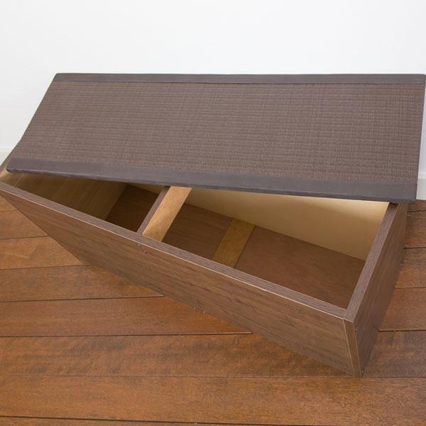 カーペット・マット・畳 畳 PP樹脂畳ベンチ 90cm日本製!収納できる畳ボックス♪畳 スツール 収納 PP-bnc-90WH PP-bnc-90NA PP-bnc-90BR 和家具 畳 畳ボックス スツール 収納 ボックス ケース 腰かけ ベンチ