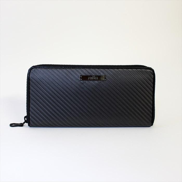 FRUHリアルカーボン ラウンドジップウォレット 財布 ケース メンズ財布日本の職人の手で作り上げた長く使える至高の逸品 8025 財布 メンズ財布 長財布 小銭入れ さいふ 札入れ 革 男性用 カーボンファイバー 日本製