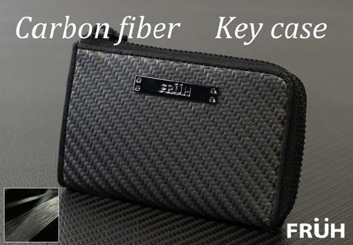 財布・ケース メンズ財布 FRUHリアルカーボン・キーケース日本の職人の手で作り上げた長く使える至高の逸品 8027 財布 メンズ財布 L型ファスナー カード入れ 革 男性用 カーボンファイバー 日本製