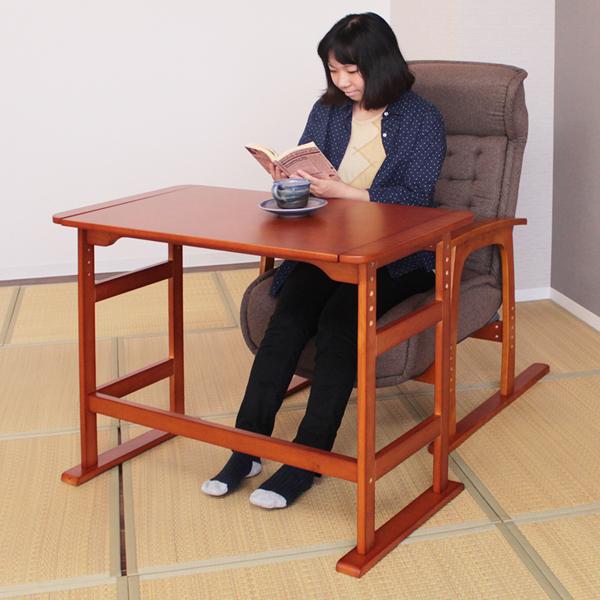 【ランキング獲得】高さ調節くつろぎテーブル コイルバネ高座椅子1脚 セット デスク ライティングビューローフリーテーブル 机 デスク 椅子 82-787 83-805 82-788 デスク ライティングデスク 机 テーブル 高さ調節 つくえ フリーテーブル 座椅子 椅子 チェア セ