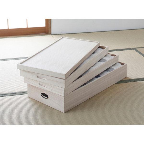 総桐衣装ケース 3段 収納家具 木箱タトウ紙を折らずに収納できる総桐衣装ケース3段 94101 衣装ケース 総桐 着物 収納 3段 タトウ紙