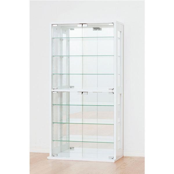 収納家具 コレクションケース背面は鏡張り♪コレクションを美しくディスプレイできるケース 27050 27051 高級感 オシャレ シンプル 雑貨収納 コレクション 鏡張り 見せる収納