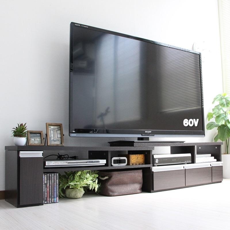 伸縮テレビ台 60インチ対応 ローボード コーナーTV台にも JVA-102テレビ台にもパソコンデスクでもどちらでも使えます! JVA-102 テレビ台 リビング収納 シンプル スタイリッシュ 60インチ 壁面収納