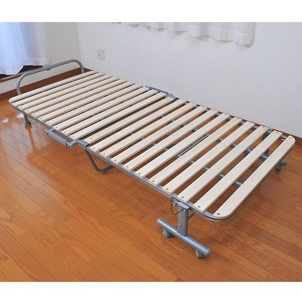 桐スノコベッド【すぐ使えるクーポン進呈中】折りたためるので布団干しが簡単にできます!キャスター付き 4476 抗菌加工 すのこ キャスター付 ベッド 折りたたみベッド すのこベッド スノコベッド キャスター付き 折り畳み 桐 天然木 木製 ベッド