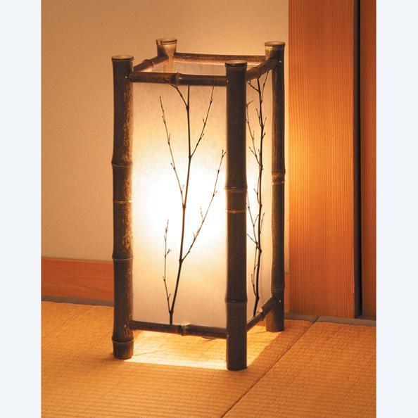 【ランキング1位獲得】和風インテリアスタンド『こもれび』 ライト 照明器具 フロアスタンド ランプ自然の素材から溢れるほのかな灯り 照明 フロアスタンド フロア照明 和風 あんどん 行灯 竹 和紙 八女