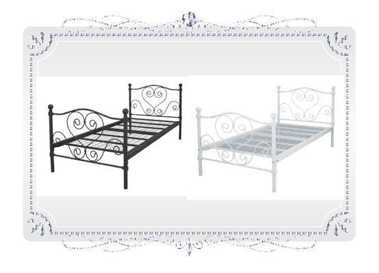 ベッド ベッドフレーム Del Sol シンデレラベッド気分はまるでプリンセス♪Del Sol シンデレラベッド BSK-919SS WH ベッド スチール ロートアイアン デルソル BSK-919S