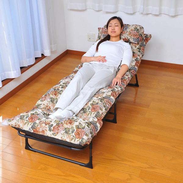 【300円OFFクーポン進呈中】三つ折りベッド 206 簡単に設置できる三つ折りベッド 簡易ベッド リクライニングベッド 0724 ベッド 折りたたみベッド 三つ折りベッド 簡易ベッド リクライニングベッド
