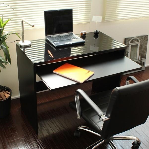 デスク パソコンデスク 日本製 デスク スライドテーブル付 90cm幅 ハイデスク健康に良い低ホルマリン仕様です♪日本製です FM108N-BK デスク パソコンデスク 机 つくえ 作業台 デスク 収納 サイド ワゴン ブラック デスク ホワイト