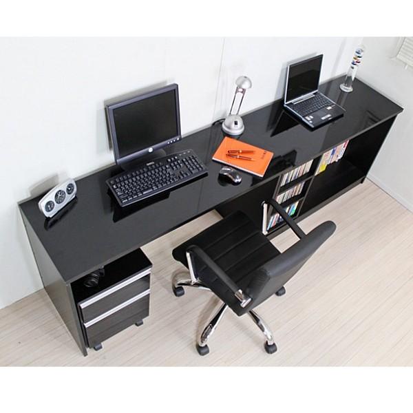 【ランキング1位獲得】デスク 最大210cm幅 鏡面 パソコンデスク 3点セット 日本製 デスク パソコンデスクスライドして最大幅210センチのロングデスクになります!日本製です FM143BK 机 学習机 デスク 木製 PCデスク PC台 机 つくえ 作業机 コンパクト