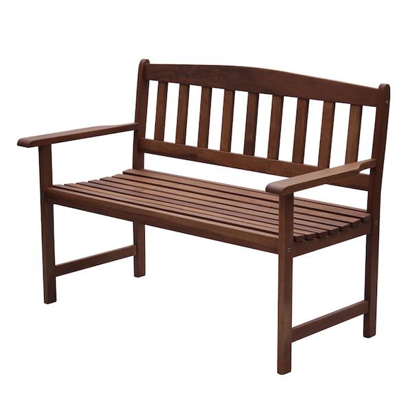 【300円OFFクーポン進呈中】木製ベンチ MA-120BC大人2人がゆっくり座れる広々したベンチ! 8653 ガーデンチェア 木製 イス チェア ベンチ スタッキング BBQ 背もたれ付 椅子 おしゃれ セット ガーデンベンチ 天然木