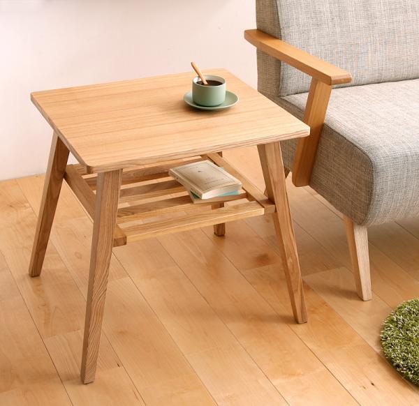 テーブル サイドテーブル・ナイトテーブル 天然木北欧スタイル ソファダイニング [Milka]ミルカ サイドテーブルゆったり!天然木北欧スタイル ソファダイニング Milkaミルカ サイドテーブル 40605029 天然木 北欧スタイル サイドテーブル ミニテーブル