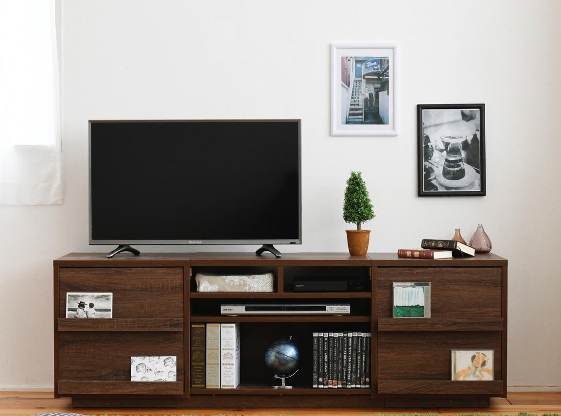ハイタイプ ワイドテレビボード 大型テレビ台 55インチ 収納家具 テレビ台 ローボード左右の収納をそれぞれ3種類から選べる。お好みのデザインや用途によって選択可能!ソファやイスに座ってちょうど良いハイタイプ。 FTV-HIGHSET TV台 TVラック TVボード