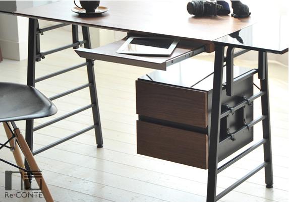 デスク パソコンデスク 組み替え自由 Re conte Nuシリーズ チェストパソコンデスク PCデスク 作業台 学習机 書斎 NU-002-BKBR NU-002-WHNA Nu デスク パソコンデスク PCデスク 作業台 学習机 書斎 木製 チェスト 引き