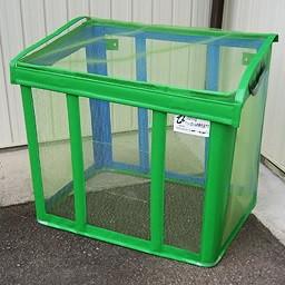 自立ゴミ枠 折りたたみ式 緑 430L ゴミ箱 角型軽量コンパクトな折りたためるゴミ枠! 9778 軽量 コンパクト 折りたためみ式 カラス対策 分別収集 固定 簡単