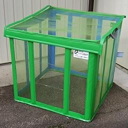 ゴミ箱 角型 自立ゴミ枠 折りたたみ式 緑 650L軽量コンパクトな折りたためるゴミ枠!9779 軽量 コンパクト 折りたためみ式 カラス対策 分別収集 固定 簡単