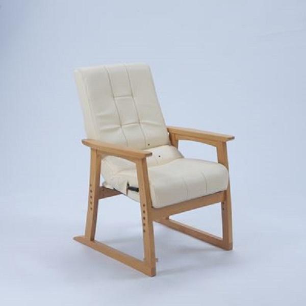 イス・チェア 円背椅子 やすらぎ2楽な姿勢で『やすらいでいただける椅子』 10716 シルバー 椅子 介護 お年寄り チェア 円背