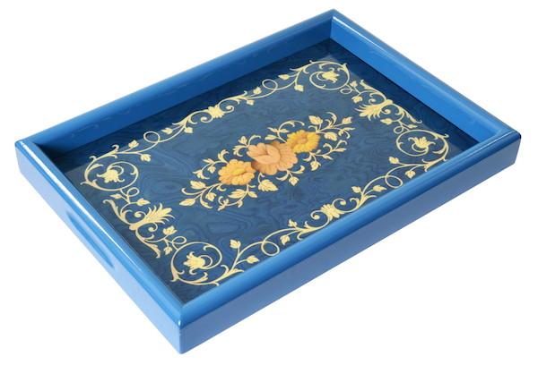 アンティーク風のイタリア製象嵌トレー c14色の異なる木片をはめ込んで模様を描く木工象嵌は、まるで絵画のような美しさ♪ 10766 10767 10768 10769 インテリア 小物 雑貨 売れ筋 人気 トレイ お盆 皿 花 フラワー