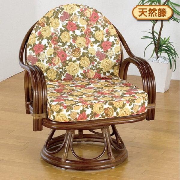 高さが選べる身体を優しく包む天然籐回転チェア ロータイプ 003FL-1109 椅子 ロータイプ ゆったり 回転 座椅子 ラタン 組み立て不要 和室 クッション取り外し可能 いす チェア