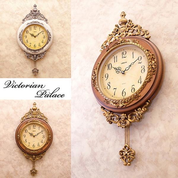 お洒落なデザインの壁掛け時計 113LS-B8074 お洒落 上品 贈り物 掛け時計 振り子 アンティーク レトロ