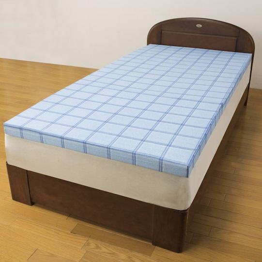 インテリア・寝具・収納 寝具 マットレス 腰を支える3つ折れ格子柄バランスマットレス ダブルFL-1191 マットレス 弾力性 腰 寝具 ダブル