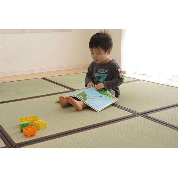 カーペット・マット・畳 カーペット・ラグ 角型 置き畳 い草ラグ かるピタ 半畳 82×82cm 4P8905020 畳 和 ラグ カーペット い草 ユニット畳 和空間