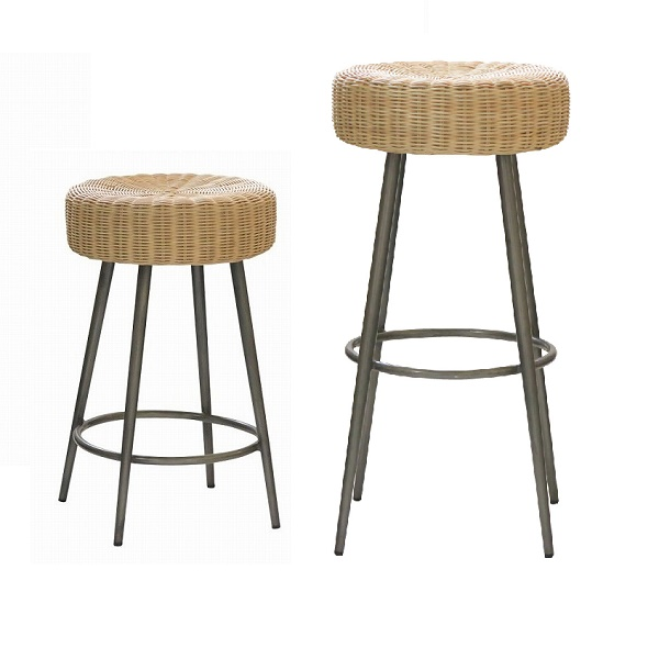 インテリア・寝具・収納 イス・チェア スツール スツール・レミ ロータイプ/ienowa201200537 ラタン アイアン スツール 椅子 カウンター椅子 アジアン さわやか