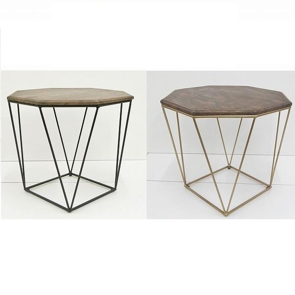 インテリア・寝具・収納 テーブル サイドテーブル・ナイトテーブル サイドテーブル・エンマ/ienowa201200492 201200493 八角形 特徴的 サイドテーブル ピッタリサイズ ブラック ゴールド 高級感 個性的