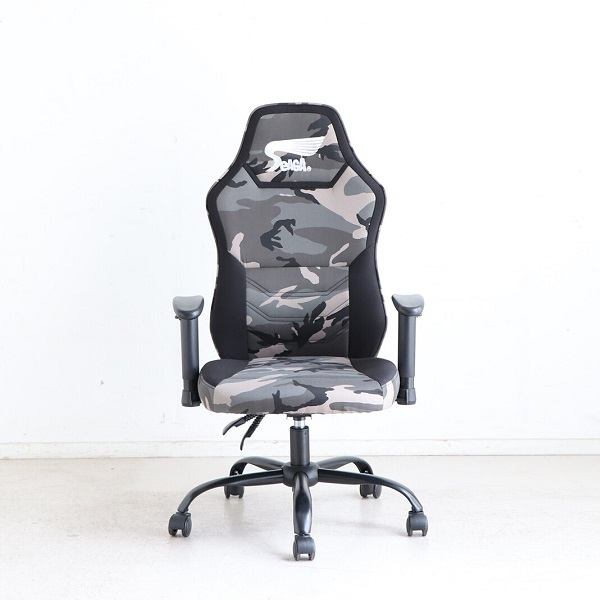 イス・チェア ゲーミングチェア SeAGA-01 ゲーミングチェア54671810 54671800 オフィスチェア ゲーミングチェア e-sports ゲーム 椅子 楽 疲れない デスクワーク ホームオフィス 在宅勤務 テレワーク お洒落 迷彩 ブラック