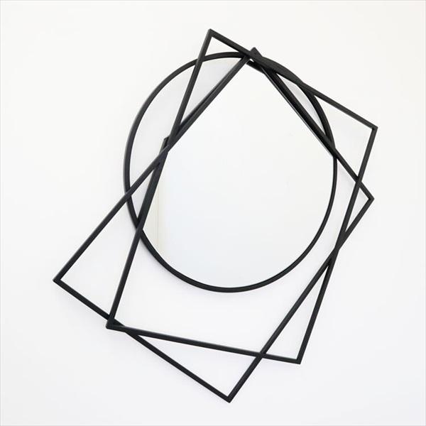 鏡 壁掛け 角型 ウォールアートアイアンミラー shape1908TSF006 鏡 壁飾り 壁掛 アイアン ウォールアート ウォールデコレーション パネル アクセント