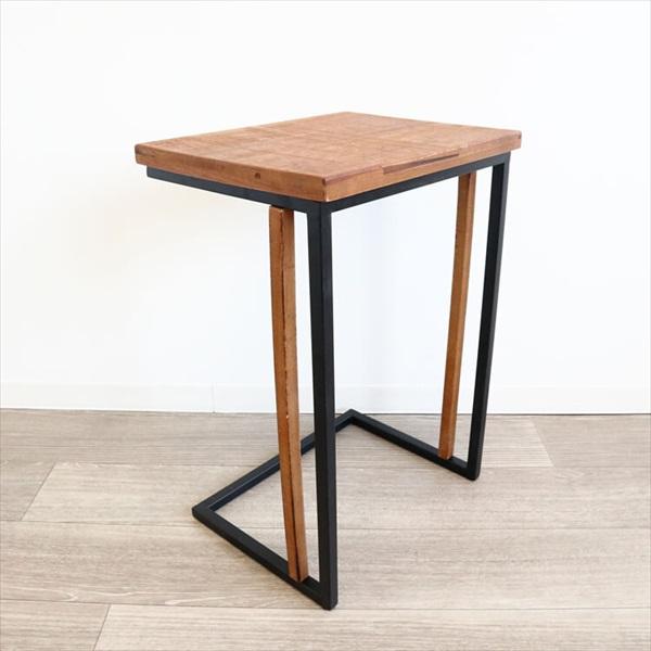 テーブル サイドテーブル・ナイトテーブル サイドテーブル 2色使い カントリー調 1909KFM003 北欧 ナチュラル カントリー調 ランプテーブル