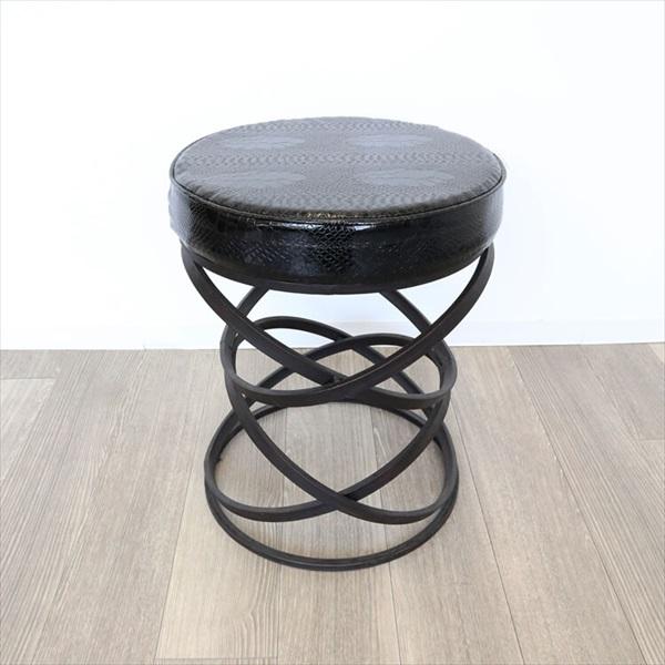 イス・チェア スツール モダン スツール ブラック螺旋1311KFM007 モダン シック クール スツール 椅子