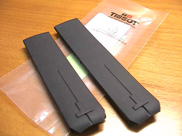 Pure rubber clock band clock belt black black 20mm T610014614 for TISSOT Tissot T- touches